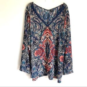 a.n.a Paisley Tunic Top